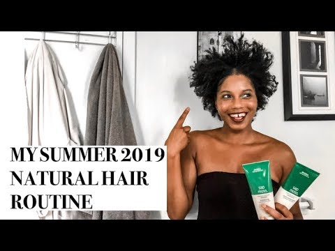 MY SUMMER 2019 NATURAL HAIR ROUTINE | NATURAL HAIR PRODUCTS | MONROE STEELE
