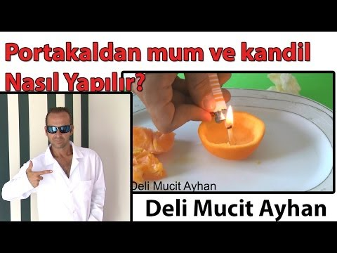 Portakaldan Mum ve Kandil Nasıl Yapılır | Deli Mucit Ayhan