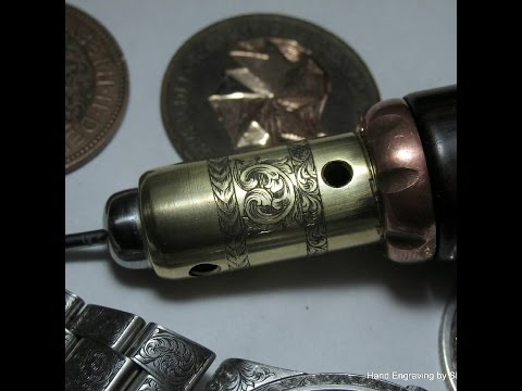 Modified handpiece,for the Homemade hand engraving machine,and engraving it.