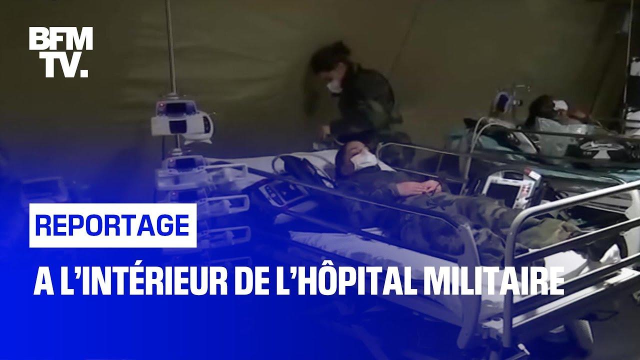 À l'intérieur de l'hôpital militaire