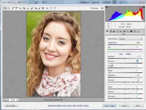 Retusz zdjęć portretowych w Adobe Camera Raw [tutorial Photoshop]