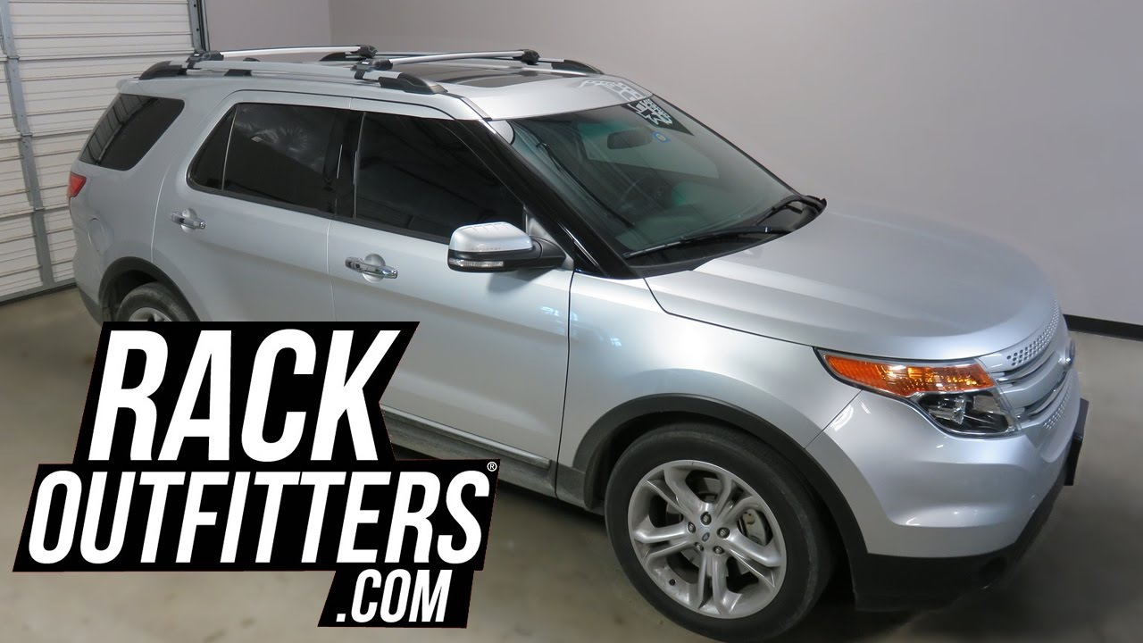 2017 Ford Explorer With Thule Aeroblade Edge Roof Rack Crossbars You