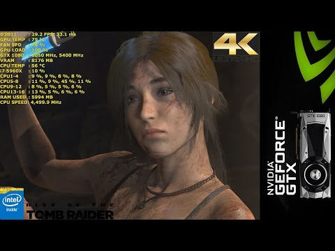 Rise Of The Tomb Raider Very High 4K | GTX 1080 FE | i7 5960X 4.5GHz