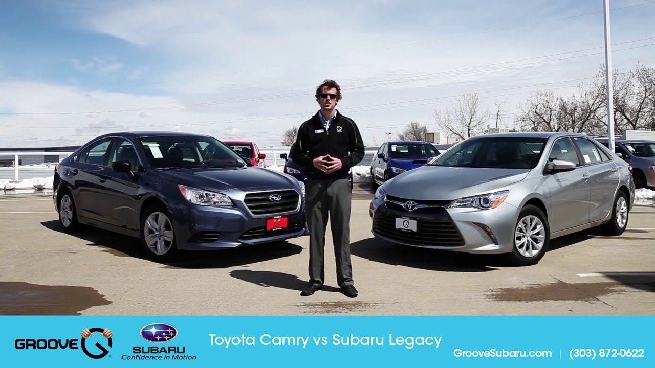 toyota camry vs subaru legacy which is better youtube. Black Bedroom Furniture Sets. Home Design Ideas