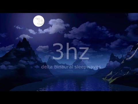 8 hours Deep Sleep Music Calming Delta Waves at 3Hz with Binaural Beats releasing Insomnia