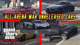 GTA V: All Arena War Unreleased Cars (Gameplay)(Showcase)