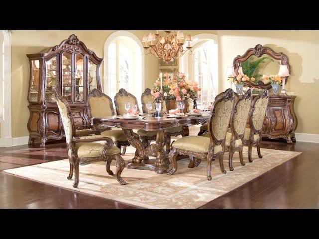 Cau Beauvais Dining Room Collection, Aico Tuscano Dining Room Setup