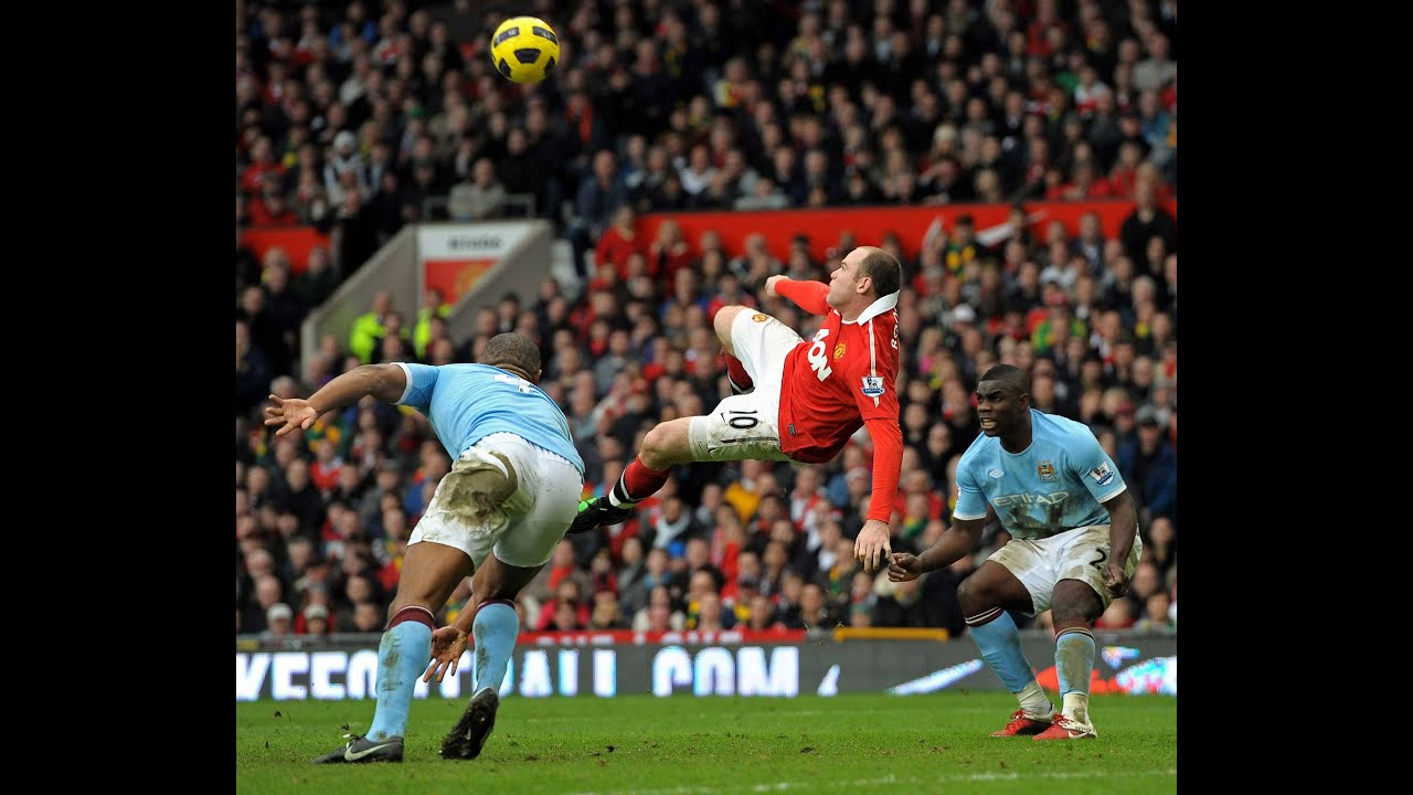 Wayne Rooney bicycle kick goal vs Manchester City - YouTube