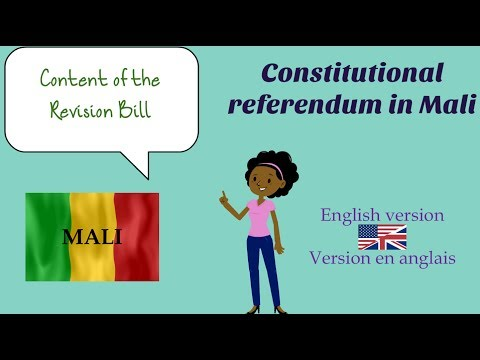 ENGLISH - The content of the proposed constitutional revision in Mali