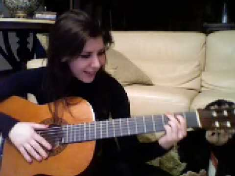me singing Bleeding love + playing guitar YAY!!! (COVER)