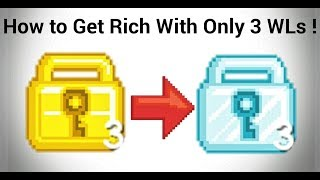 How to Get Rich With Only 3 WLs | Growtopia