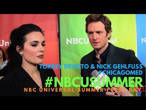 Torrey DeVitto & Nick Gehlfuss #ChicagoMed at NBCUniversal's Summer 2016 Press Day #NBCUSummer
