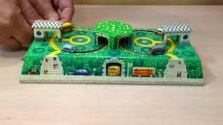 Заводна, жерстяна іграшка ''Автотраса'', СРСР 1970-е