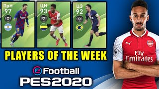 😱 100 best Messi and Aubameyang 97 😱 PES 2020 Mobile | team of the Week 27/02 in the PES 2020 mobi