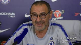 Maurizio Sarri pre Newcastle vs Chelsea