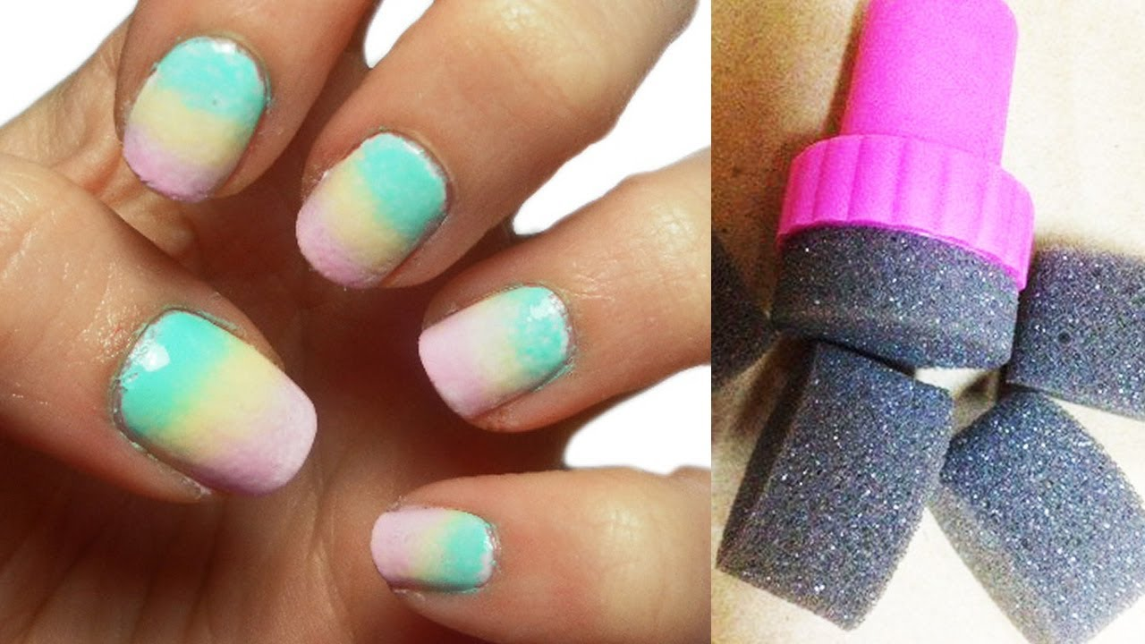 Pastel sponge nails tutorial youtube prinsesfo Image collections