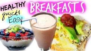 3 Healthy Breakfast Ideas! | BeautybyBlaire Thumbnail