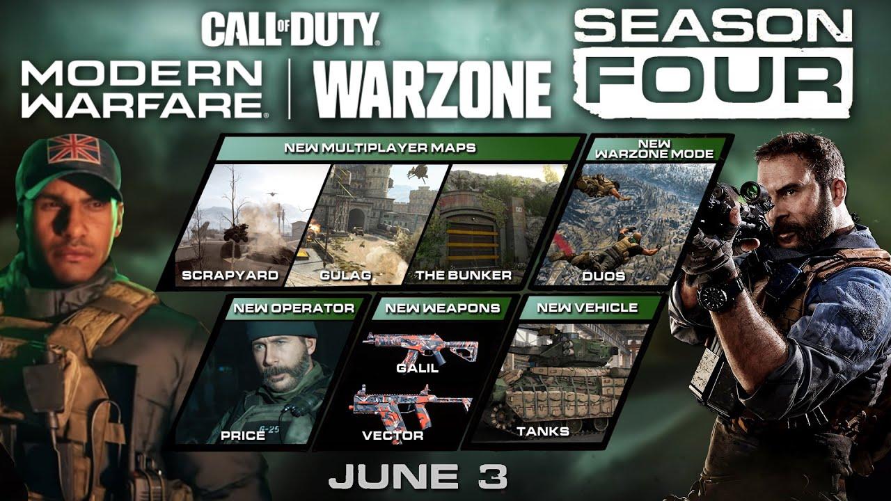 Modern Warfare Warzone Season 4 Content Roadmap Breakdown Maps