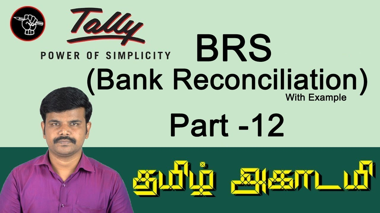 bank reconciliation statement in tally erp 9 in english