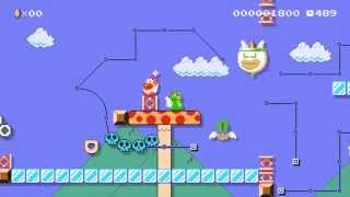Super Mario Maker - Luigi Wins By Doing (Absolutely) Nothing