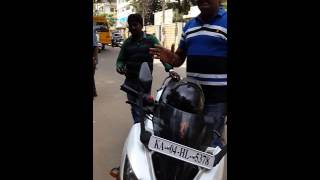 Banglore city traffic police for money