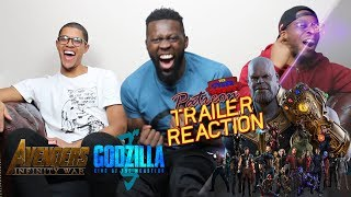 Avengers Infinity War trailer godzilla king of the monsters reaction