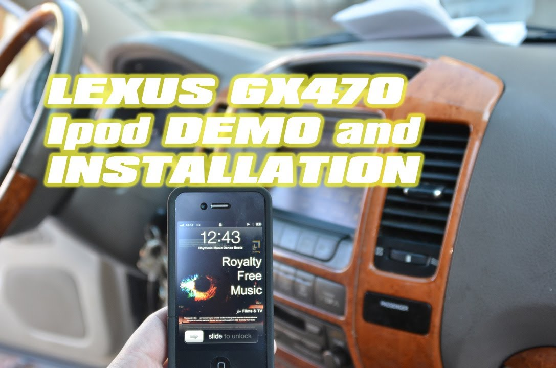 Lexus GX470 IPOD Aux adapter installation, with VAIS, Keep factory CD  changer, by Autotoys com