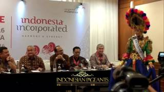 Press Conference National Costume Dikna Faradiba Miss Tourism International Indonesia 2016