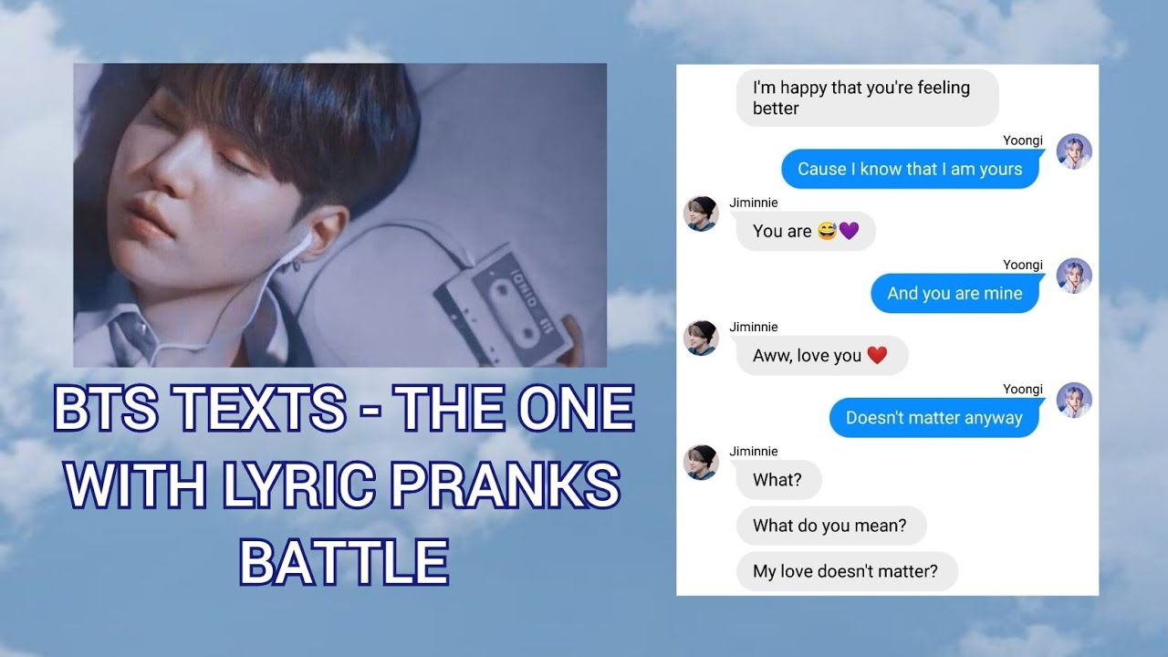 BTS TEXTS - the one with lyric pranks battle | YOONMIN