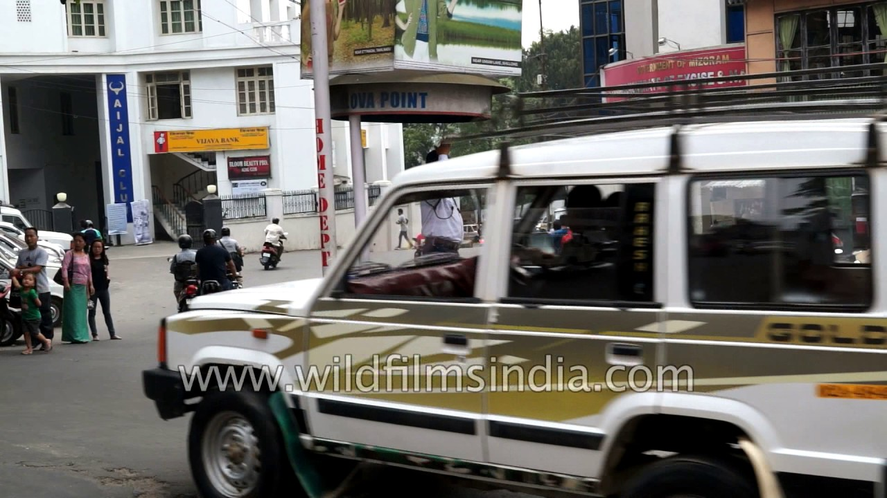 Maruti cars, the odd Hyundai, Mahindra Bolero and Tata Sumo: Aizawl traffic