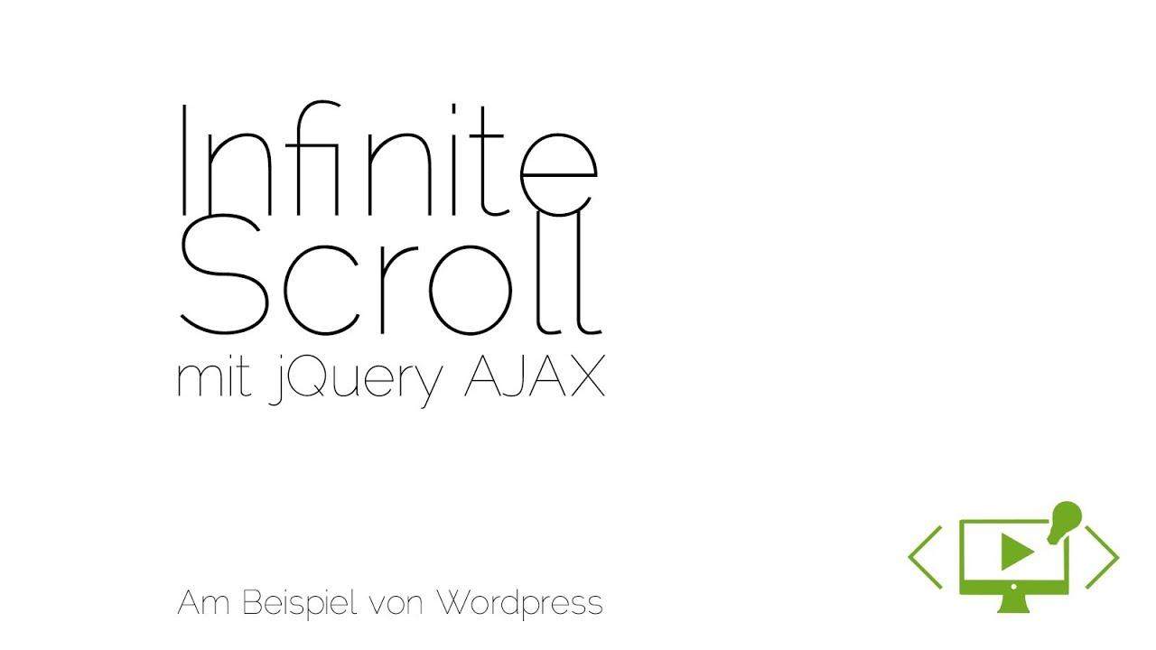 infinite scroll mit jquery am beispiel von wordpress - Jquery Beispiele