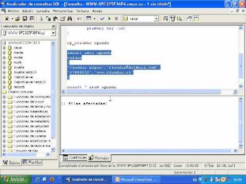 Videotutorial 12 ASP y SQL Server