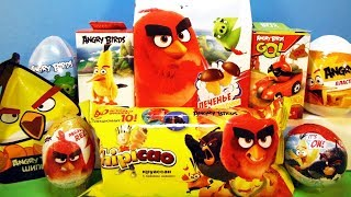 ANGRY BIRDS Mix! СЮРПРИЗЫ с игрушками Энгри бердз Sweet Box, Chipicao, Kinder Surprise eggs unboxing