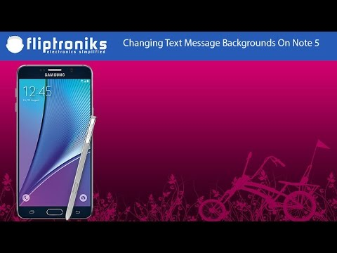 samsung galaxy note 5 how to change text messages background style