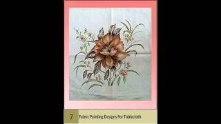 Latest Fabric Painting Designs For Tablecloth