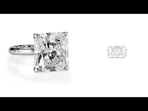 10 carat radiant diamond solitaire by Leon Megé r6203