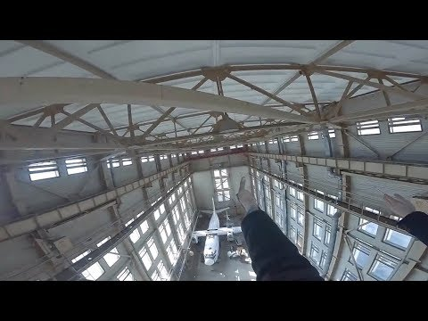 Explorers Caught By Security In Abandoned Hangar