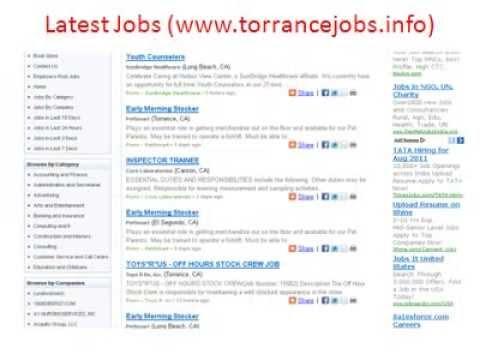 Torrance Jobs | Jobs in Torrance | City of Torrance Jobs | Torrance Memorial Jobs