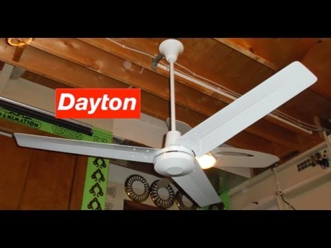 Dayton Industrial Ceiling Fan Youtube