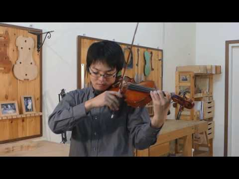 Wano Kosei plays the violin made by Kikuta Hiroshi 2016