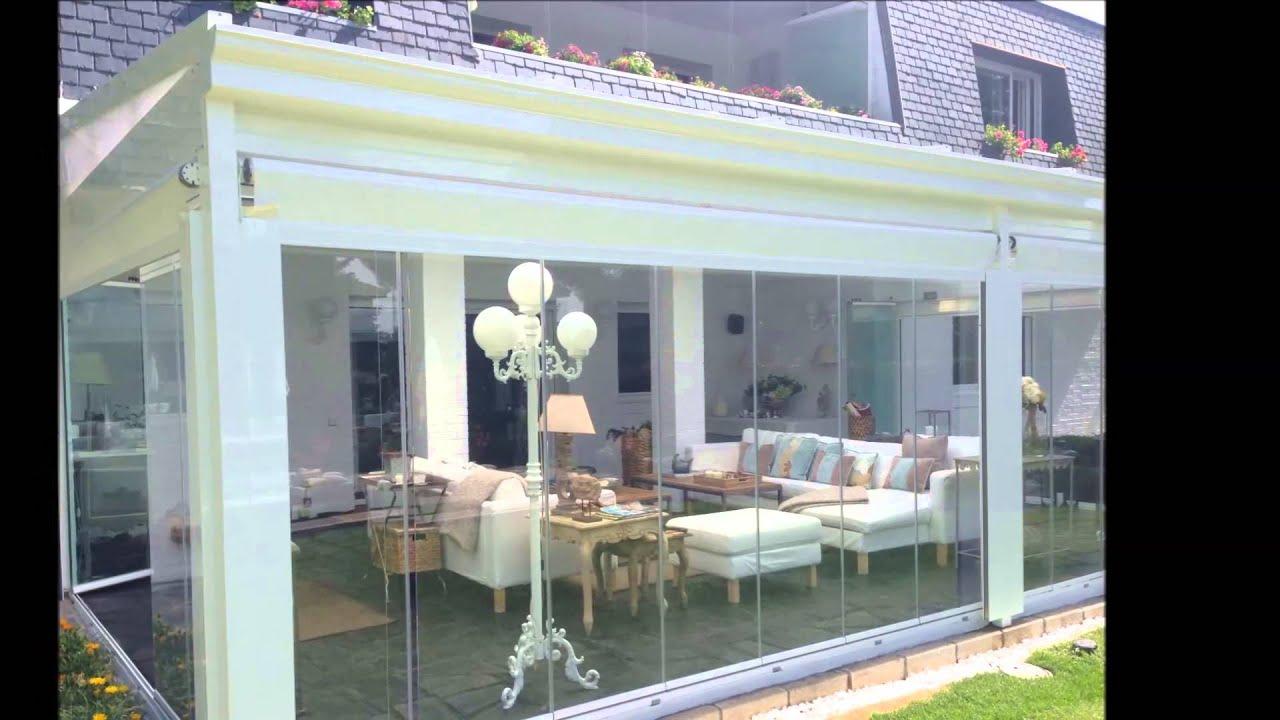 Techo movil cortinas de cristal y toldos verticales youtube for Toldos moviles para terrazas
