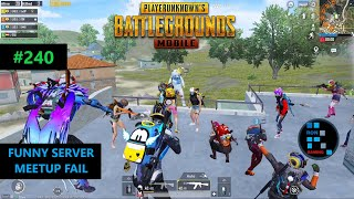 PUBG MOBILE | FUNNY SERVER MEETUP FAIL WITH RANDOM SQUAD