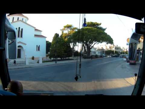 Going by bus from Rhodes Airport to Rhodes City