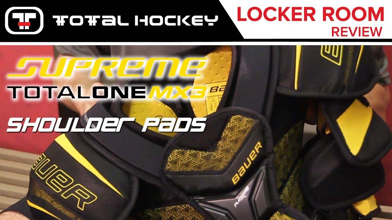 b36eb3ff2b4 Bauer Supreme TotalOne MX3 Shoulder Pads    Locker Room Review - YouTube