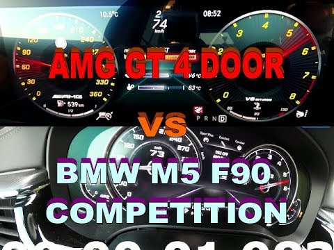 Mercedes Benz Amg Gt 4 Door Coupe VS Bmw M5 F90 Competition Pack