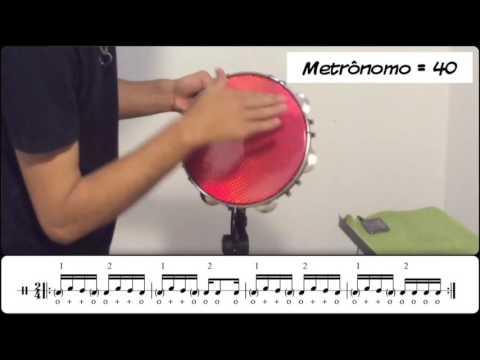 Como tocar Pandeiro - Levada de Samba (Aula 4)