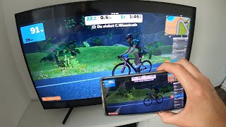 How to set up Zwift on a big TV via Android screen mirroring