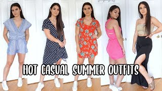 CASUAL SUMMER OUTFITS  | CUTE & COMFY