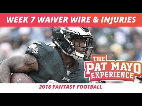 2018 Fantasy Football — Week 7 Waiver Wire Rankings, Injuries, Recap + More