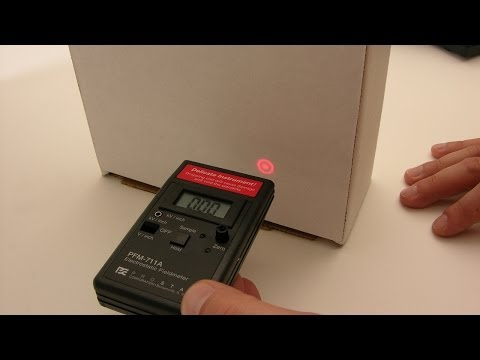 Taking A Field Measurement With The PFM-711A Field Meter